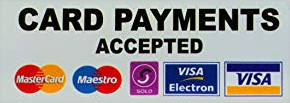 We can take card payments for deposits and final payments